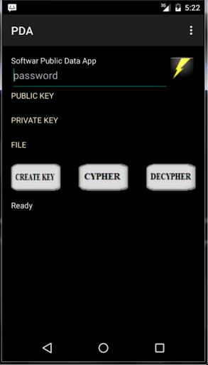 PDA 2048 bit RSA file utility