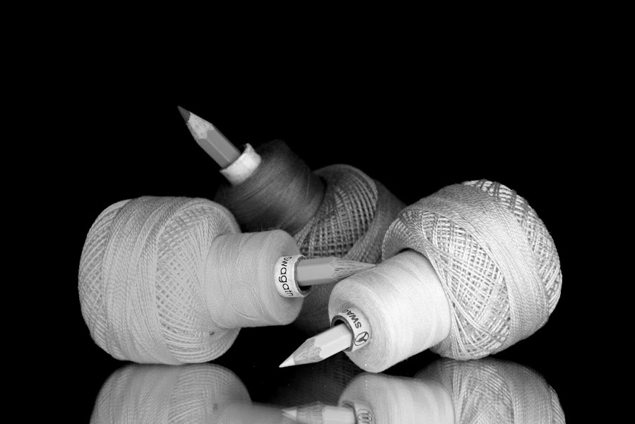 Thread-pencil combo by Asif Bora - Black & White Objects & Still Life (  )