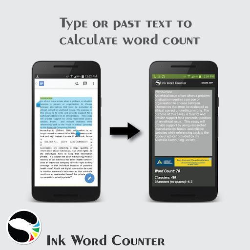 Ink Word Counter