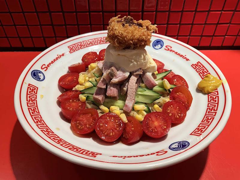【衝撃グルメ】ラーメン屋ソラノイロが画期的な料理発表 / 耳をふさいで食べる冷やし中華