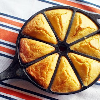 Creamed Corn Grilled Skillet Cornbread with Strawberry Butter.