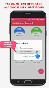 Swift Galician Keyboard - náhled
