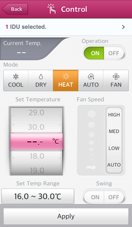 LG System Air Conditioner- screenshot