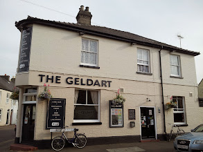 Photo: Geldhart offers five rotating guest cask ales. Closed on Monday.
