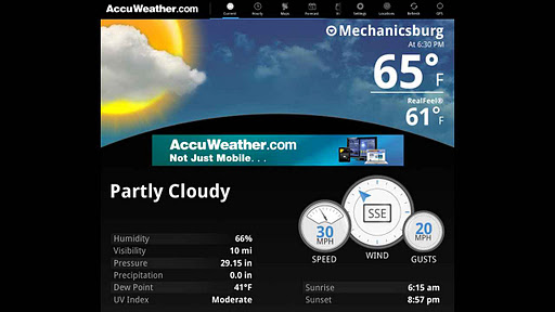 AccuWeather for Sony Tablet P screenshot 1