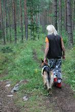 Foto: Jag och Niska på väg till uppletsrutan