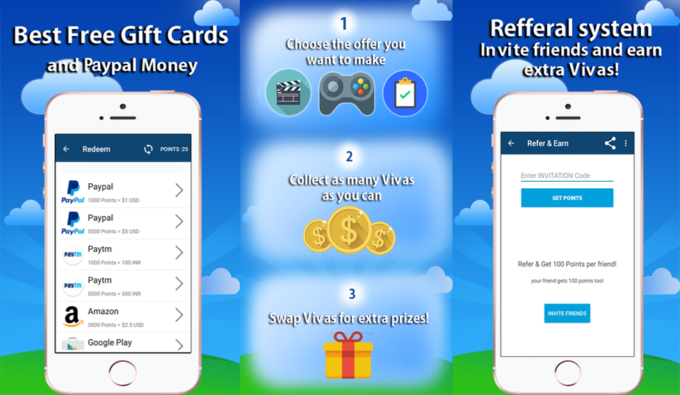 VivApp - Cash Rewards & Free Gift Cards- screenshot