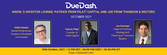 Nikhil's Investor Lounge: Patrick from Pilati Capital and Joe from Thomson & Reuters
