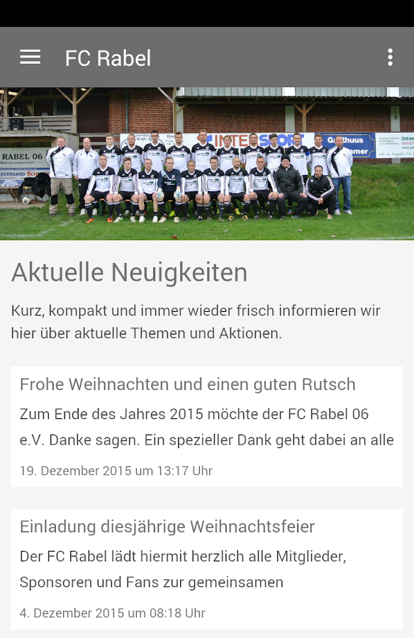 FC Rabel 06 e.V.- screenshot