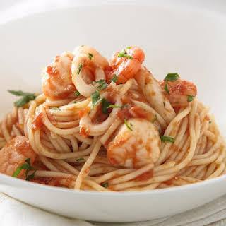 Spaghetti Seafood Marinara.