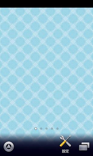 白い花の青色模様柄【スマホ待受壁紙】