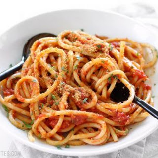 Pasta with 5 Ingredient Butter Tomato Sauce