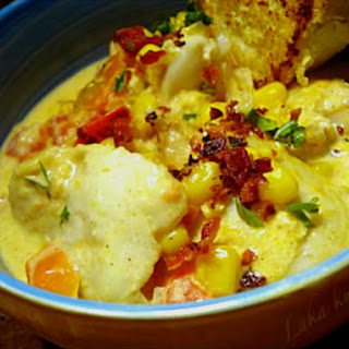 Haddock And Corn Chowder With Saffron