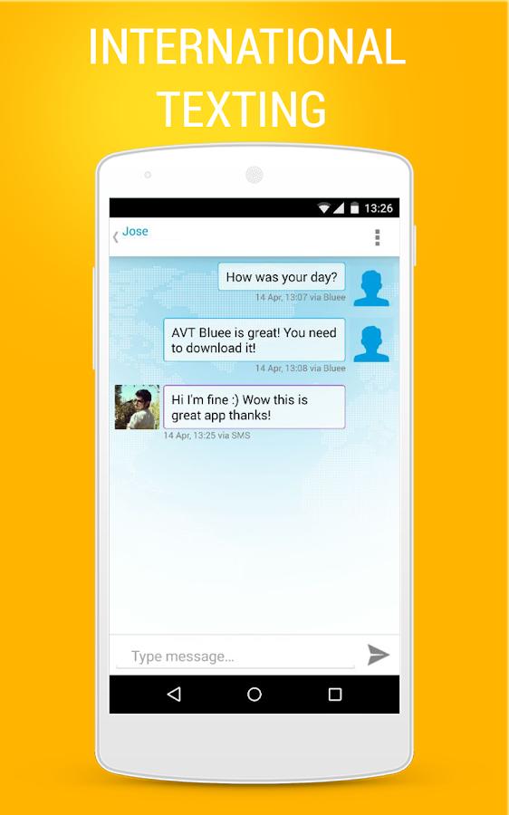 AVT Bluee International Calls - screenshot