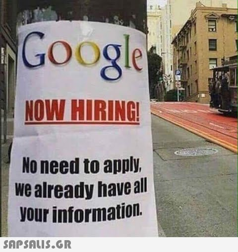 Google NOW HIRING No need to apply We already have all vour information.