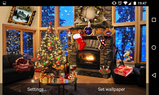 Christmas Fireplace LWP Full screenshot 14