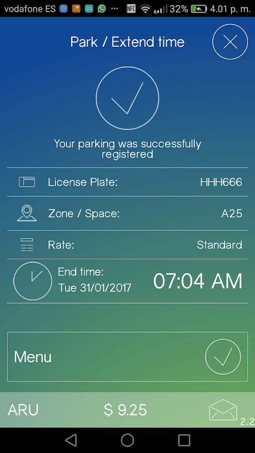 iParkME - app meter & parking- screenshot