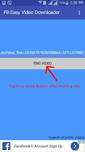 FB Easy Video Downloader - náhled