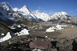 Photo: Masherbrum from Goro camp.