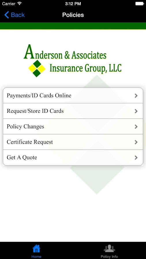 Anderson Insurance Group- screenshot