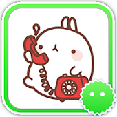 Stickey Molang Cartoon Rabbit