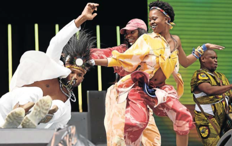 American performer Usher nails his dance moves during the Global Citizen Festival: Mandela 100 at FNB Stadium in Soweto on Sunday. Some of the world's biggest musicians performed at the event