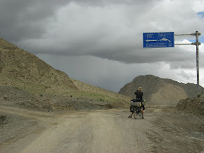 Photo: Here we are leaving Friendship Highway again, this time in direction Pang la pass and Mount Everest BC