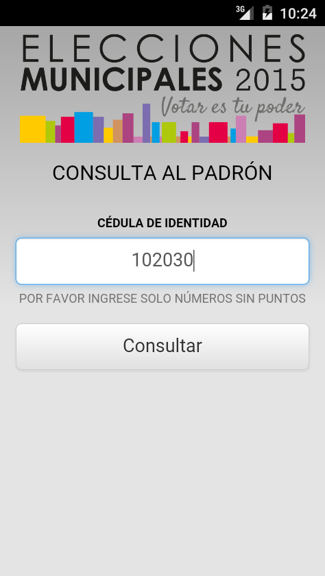 Padrón 2015- screenshot