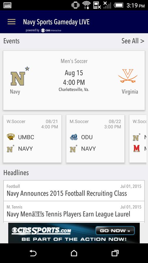 Navy Sports Gameday LIVE - screenshot