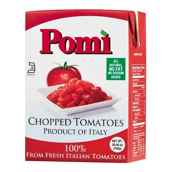 Pomi Besides being an excellent tomato for any kind of sauce, they are totally GMO...