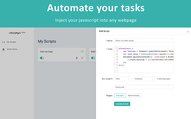 Scripty - Javascript Injector