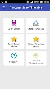 Taoyuan Metro Timetable - náhled