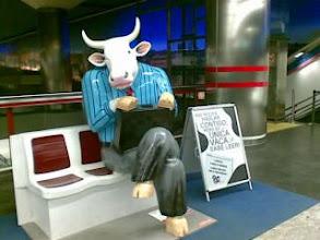 Photo: La vaca ejecutiva viaja en metro!-desde mi Nokia E61i