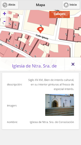 android Callejero Virtual de Hinojales Screenshot 6