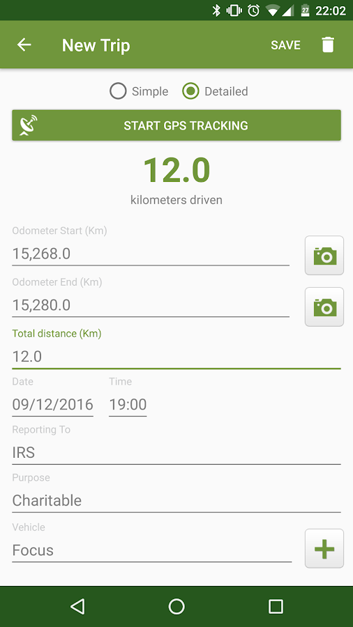 Tax Mileage: IRS Trip Log GPS- screenshot
