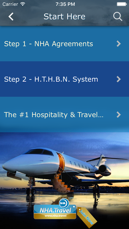 NHA Travel Agent- screenshot