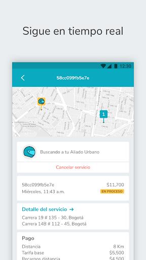 mensajeros urbanos cliente screenshot 3