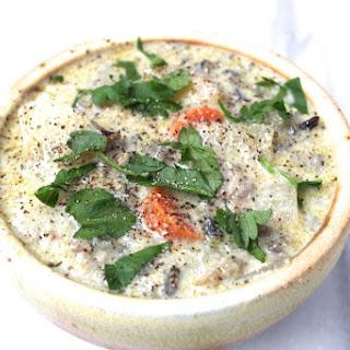 Creamy Wild Rice, Mushroom, and Sausage Soup Recipe