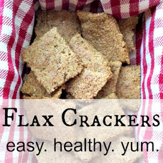 Flax Crackers - Easy and Healthy Gluten-Free Snack.