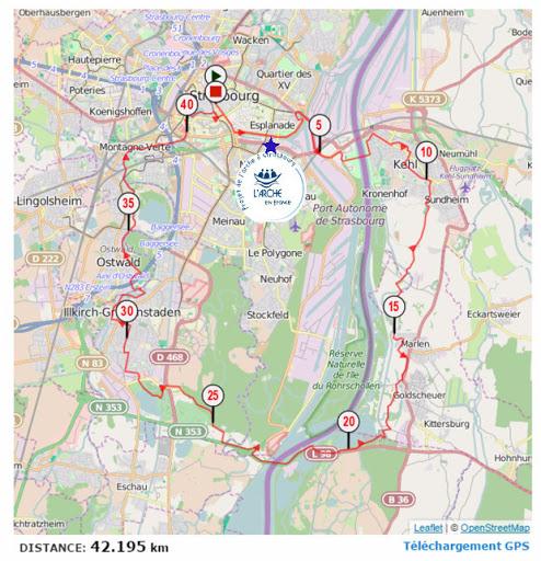 Plan parcours marathon eurodistrict 2015