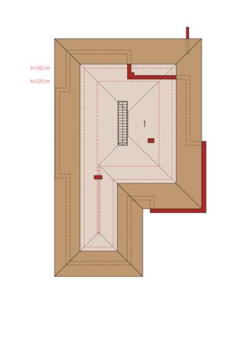 Margaret G2 Leca® Dom - Rzut poddasza do adaptacji