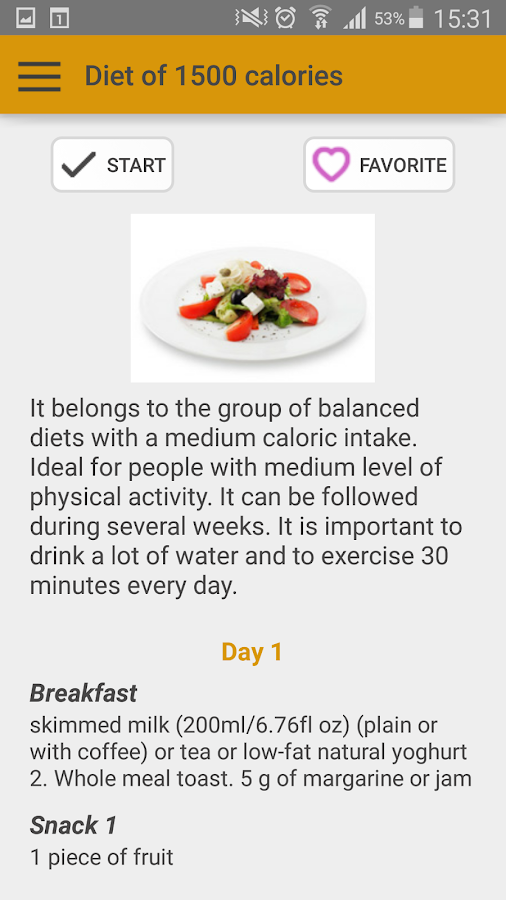 Diets for losing weight- screenshot