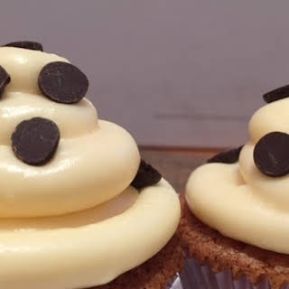 Chocolate Chip Cupcakes with Marshmallow Icing.