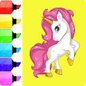 Unicorn Coloring Book-Easy Coloring icon