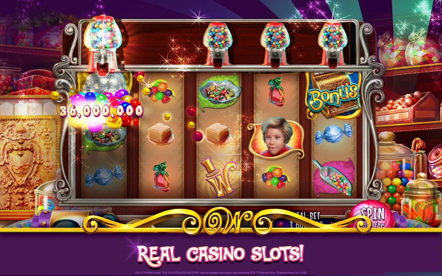 Willy wonka and the chocolate factory slots free coins