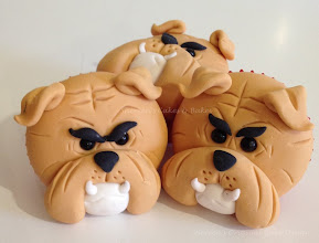 Photo: Bulldog Cupcakes by Shereen's Cakes & Bakes (3/1/2012)  View cake details here: http://cakesdecor.com/cakes/8417