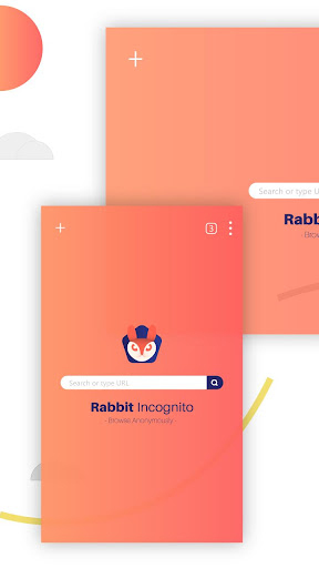 Private Browser Rabbit - The Incognito Browser 2.4 screenshots 1