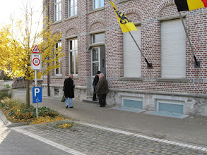 """Photo: We received a warm welcome at the headquarters of the regional historical society, the """"Heemkundige Kring"""" in Huldenberg,"""