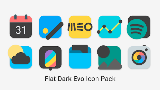 Flat Dark Evo – Icon Pack 3