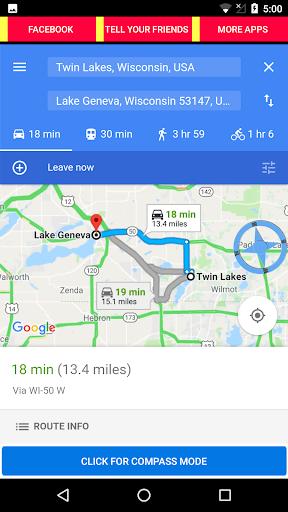 gps navigation + compass screenshot 3